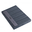 50pcs - Nail file, grey rectangle with black centre, washable and disinfectant friendly 100/180