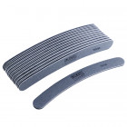 10pcs - Nail file, grey banana design with black centre, washable and disinfectant friendly 150/150