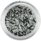 Randomly shaped confetti flakes - grey-black with stripes