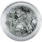 Randomly shaped confetti flakes - silver