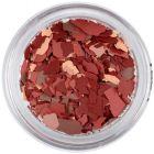 Randomly shaped confetti flakes - claret-brown