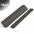 10pcs - Professional nail file, slim black 100/180