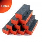 10pcs - Triple-sided orange and black block for nails 100/100