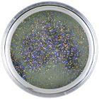 Grey acrylic nail powder 7g - Black Glitter