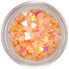 Flitter translucent hearts - light apricot