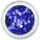 Nail spangles - dark blue hearts