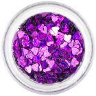 Nail art confetti - dark purple hearts