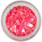 Flitter hearts – coral