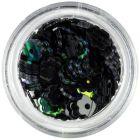 Nail art artificial flowers - black