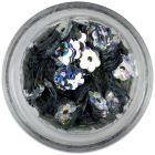 Silver flowers with hole - hologram reflection