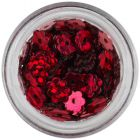 Nail art flowers with hole - red