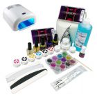 Three phase system - kit for gel nails, 36W silver UV lamp