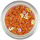 Orange flowers with hole - colourful reflection