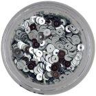 Silver nail art flitter disks