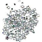 Silver nail art stars, hologram