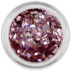 Nail art decoration - old pink diamond confetti, hologram