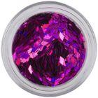 Purple confetti for aqua tips - diamonds, hologram