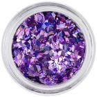 Nail art diamond confetti - light purple, hologram