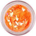 Deep orange flitters for aqua tips - diamonds