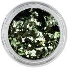 Nail art diamond confetti - olive green