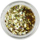 Gold flitters for aqua tips - diamonds, hologram