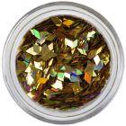 Diamond confetti - deep gold, hologram