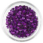 Nail art confetti - purple 3D shells, shimmering