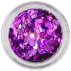 Confetti - holographic hexagons, violet