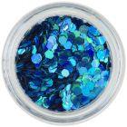 Turquoise hexagon - holographic