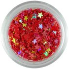 Nail art stars – red