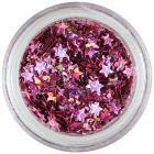 Nail art stars, violet-pink colour