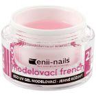 Builder French UV gel for nails - slightly pink, 40ml