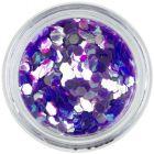 Hexagon shaped aqua elements, light violet