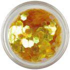 Decorative hexagons - aqua elements, colour of honey