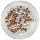 Diamond rhinestones - brown-orange