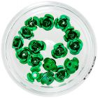 Decoration for nails - green ceramic roses