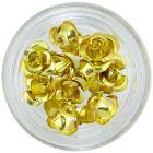 Gold ceramic roses, 10pcs