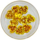 Decoration for nails - yellow-gold, 10pcs