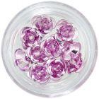 Ceramic nail decorations, 10pcs - light pink