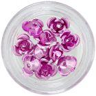 Pink ceramic roses, 10pcs