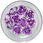 Light purple ceramic roses, 10pcs