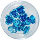 Decoration for nails, 10pcs - turquoise ceramic roses