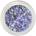 Crushed shells for nail art - light purple-blue chips