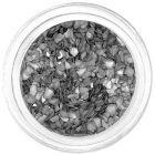 Silver metallic crushed shells