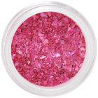 Pearly dark pink nail art decoration - crushed shells