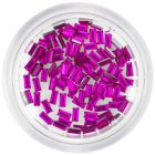 Decorative rhinestones, rectangles - cyclamen pink colour