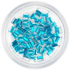Turquoise blue rhinestones, rectangles