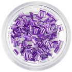 Nail decorations - light purple rhinestones, rectangles
