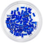 Royal blue rhinestones, rectangles