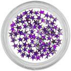 Dark purple rhinestones for nails - stars